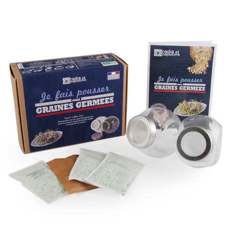 Radis et Capucine - Kit 2 germoirs verre graines à germer bio
