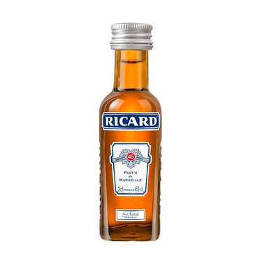 Sample bottle of Ricard