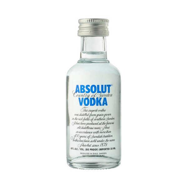 Sample bottle of Vodka - Absolut 40%