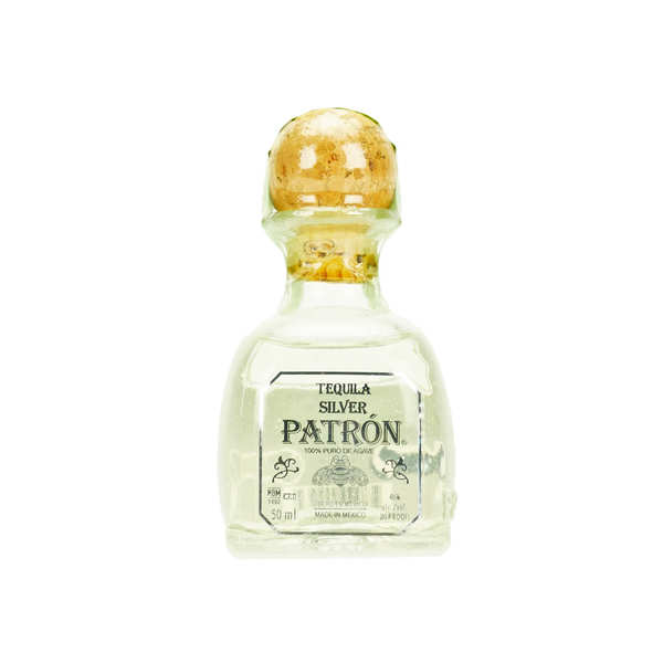 Sample bottle of Silver Patron Tequila 40%