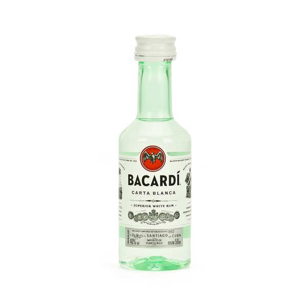 Sample bottle of Bacardi - Carta Blanca 40%