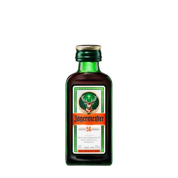 Sample bottle of Jägermeister Liqueur 35%