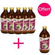Organic Graviola (Corossol) Pure Juice - 5 + 1 free