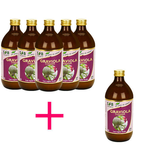 Graviola (Corossol) Pure Juice - 5 + 1 free