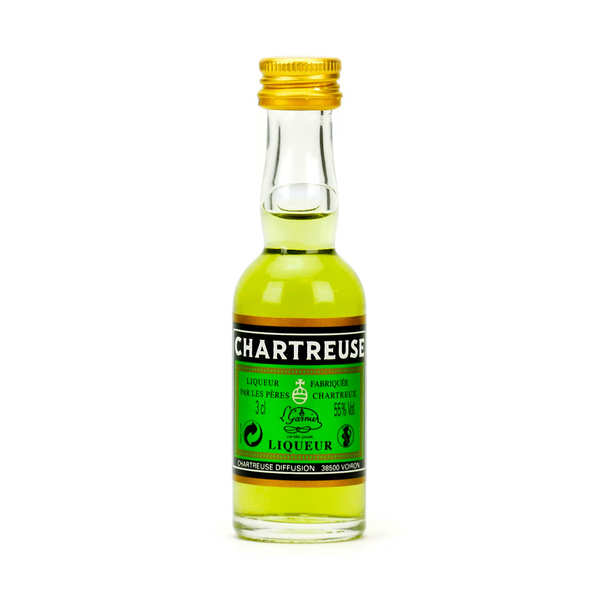 Sample bottle of Green Chartreuse 55%