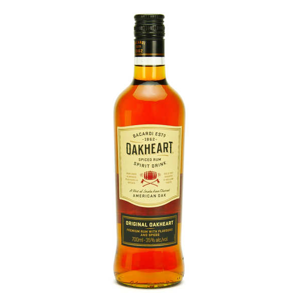 Rhum Bacardi Oakheart - Spiced rhum 35%