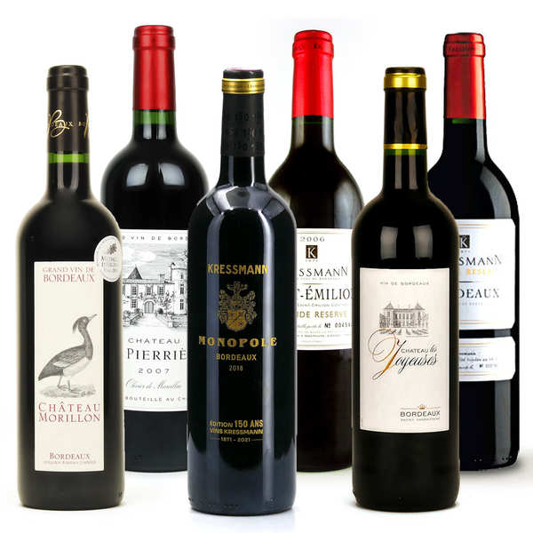 Bordeaux wines collection