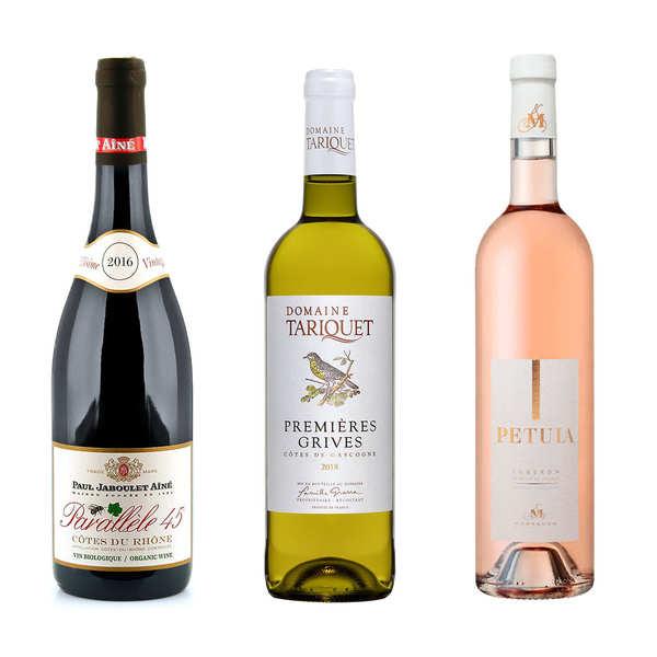 Collection vins à déguster entre amis