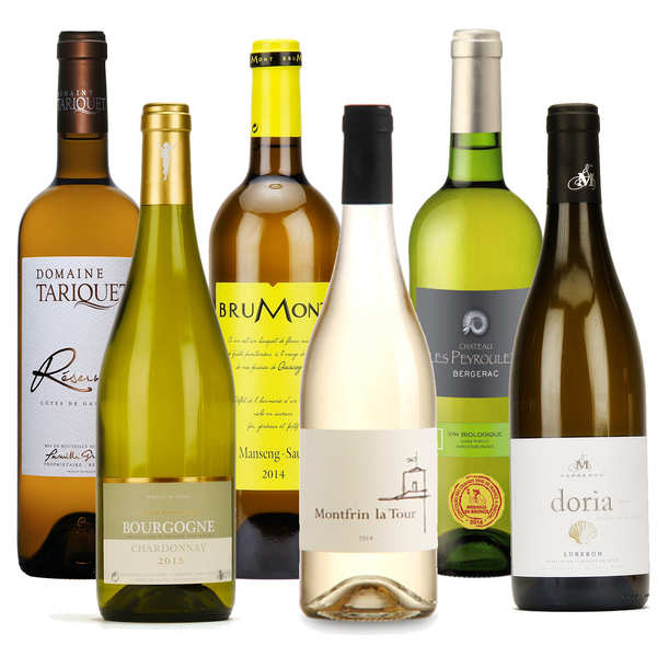 Dry white wines collection