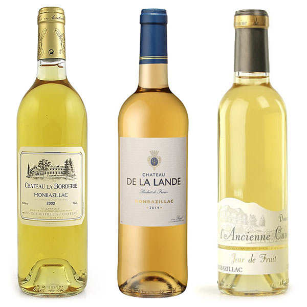 Sweet Monbazillac wines collection