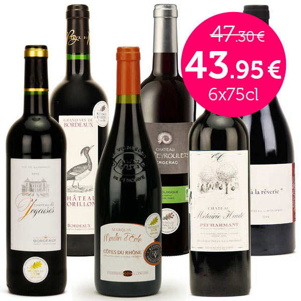 Collection vins rouges médaillés