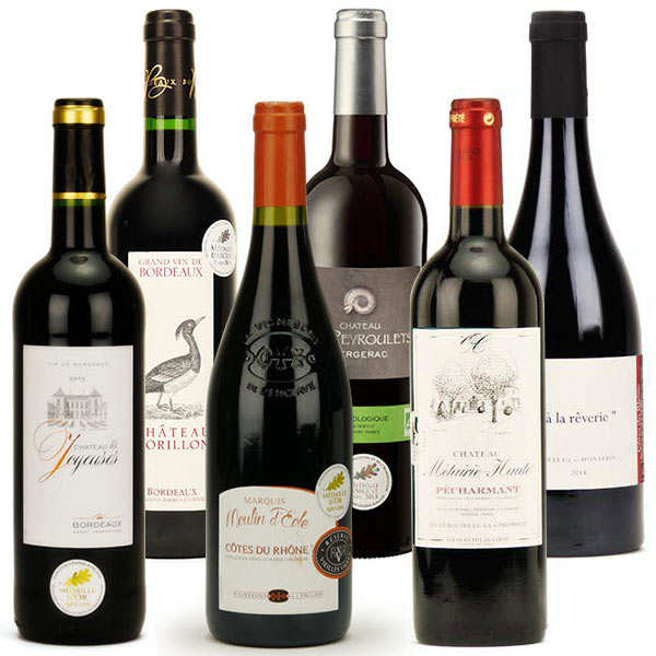 Medal winners red wines collection