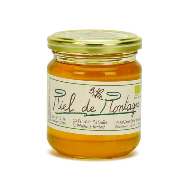 Organic Mountain Honey from Haute Loire