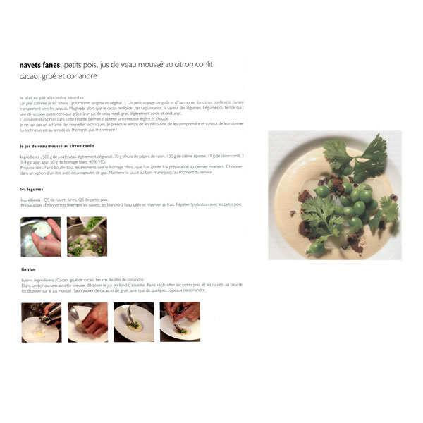 Magazine about molecular cuisine