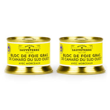 Set of 2 Duck Foie Gras with Pieces from South-West France