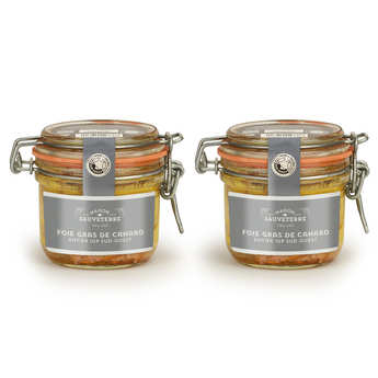Maison Sauveterre - Lot de 2 foies gras de canard entier du Sud-Ouest (IGP)