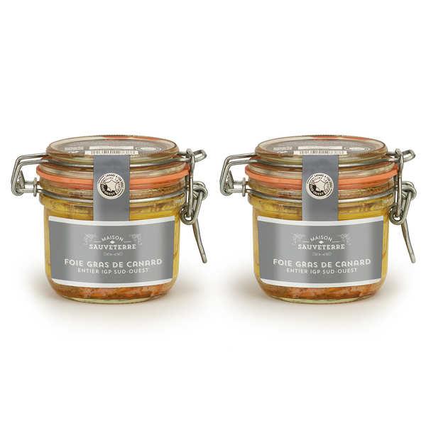 Lot de 2 foies gras de canard entier du Sud-Ouest (IGP)