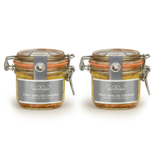 Set of 2 Whole Duck Foie Gras from South-West France