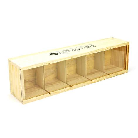 Les Ateliers de la Colagne - Wooden box for 5 preserve (or honey) jars