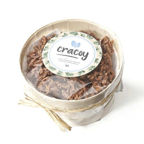 Bourriche de chocolat au lait et pignon de pin du bassin d'Arcachon - Cracoy