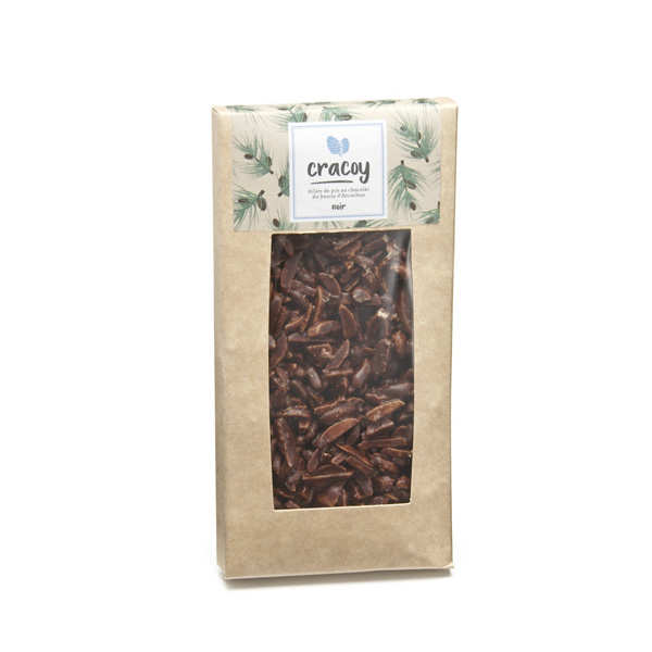 Tablette chocolat noir et pignon de pin du bassin d'Arcachon - Cracoy