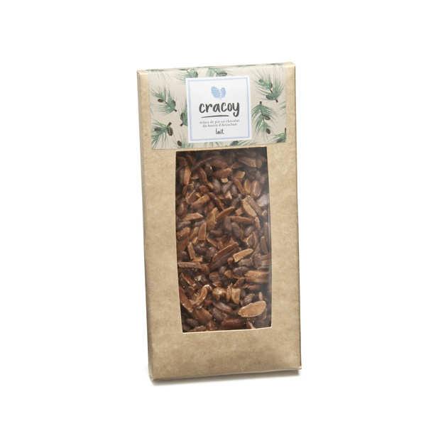 Tablette chocolat lait et pignon de pin du bassin d'Arcachon - Cracoy