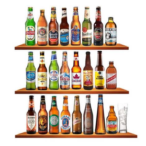 BienManger paniers garnis - Calendrier de l'avent 24 bières du monde & 1 verre