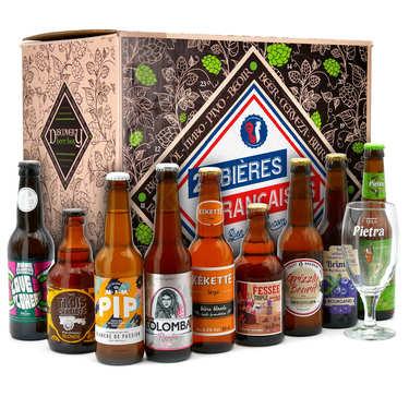 Coffret cadeau 24 bières françaises