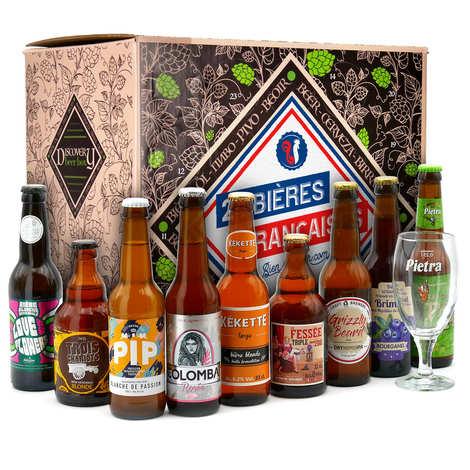 BienManger paniers garnis - Caisse découverte 24 bières françaises & 1 verre
