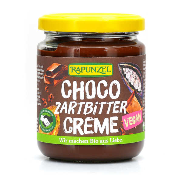 Organic and Vegan Chocolate Spread without Milk and Hazelnuts