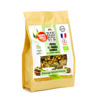 Biscru - Organic Sprouted Seeds Chips - Mediterranean Mix