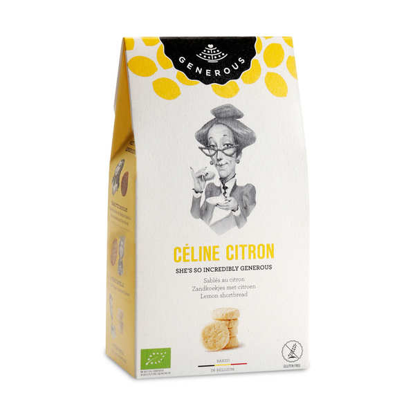 Organic Lemon Shortbread by Céline