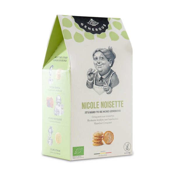 Organic Hazelnut biscuits by Nicole