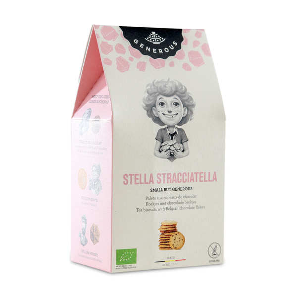 Organic Palet Biscuits with Chocolate Crisps by Stella