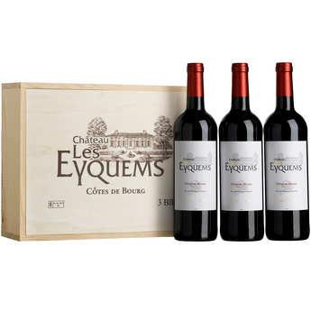 Château Les Eyquems - Château Les Eyquems - wooden box of 3 bottles