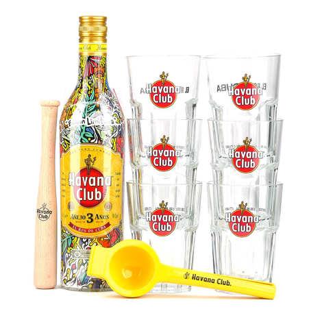 Havana Club - Rhum Havana Club 3 ans - coffret mojito