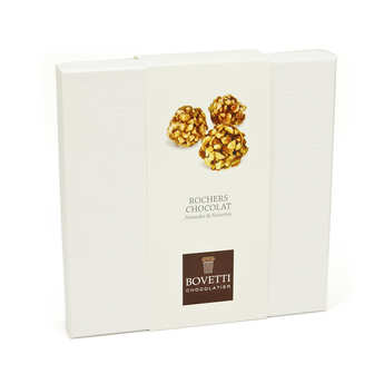 "Bovetti chocolats - Milk Chocolate and Almond ""Rochers"" with Slivered Hazelnut"