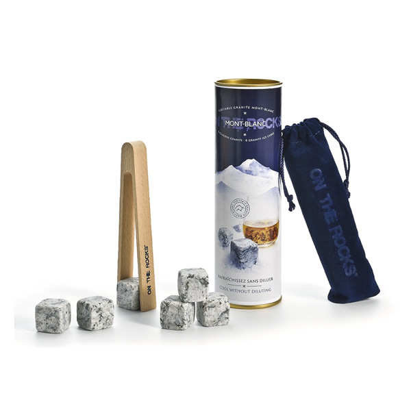 6 Ice Cubes from The Mont Blanc with Ice Cube Tongs Set