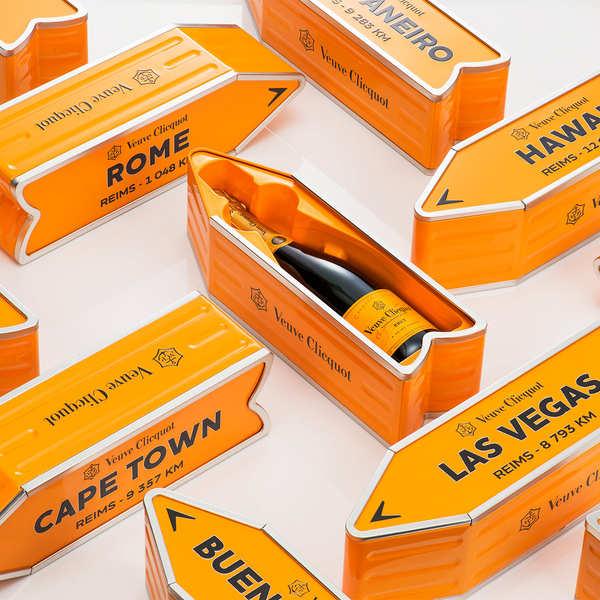 coffret m tal arrow champagne veuve clicquot brut carte jaune veuve clicquot ponsardin. Black Bedroom Furniture Sets. Home Design Ideas