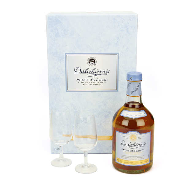 Whisky Dalwhinnie winter's gold - coffret 2 verres 43%