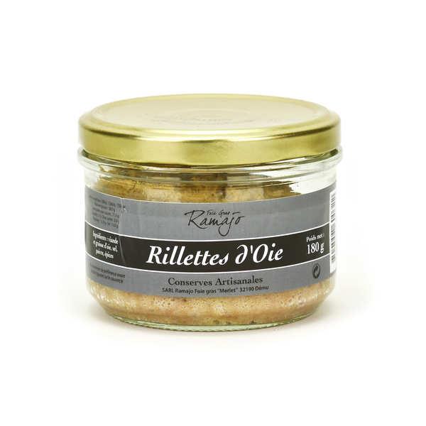 Rillettes d 39 oie l 39 ancienne effiloch es la main sarl ramajo foie gras - Rillettes d oie maison ...