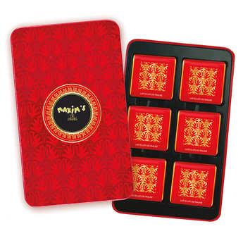 Maxim's de Paris - Plumier de carrés de chocolat au lait éclats de praliné - Maxim's