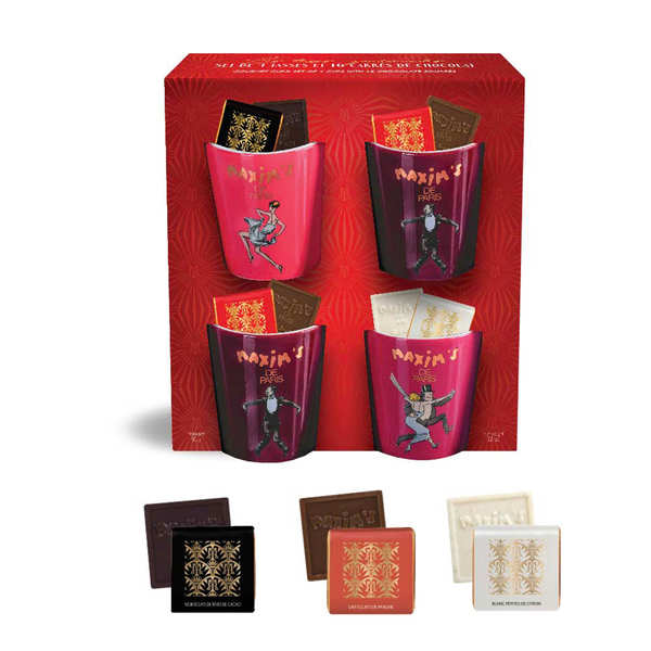 """Tasses Gourmandes"" Gift Box with Assorted Chocolates - Maxim's"