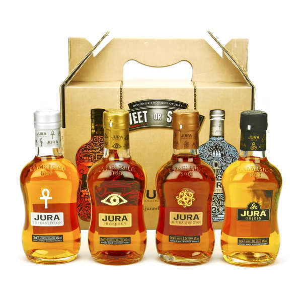 coffret cadeau whisky jura 4 x 20cl isle of jura. Black Bedroom Furniture Sets. Home Design Ideas