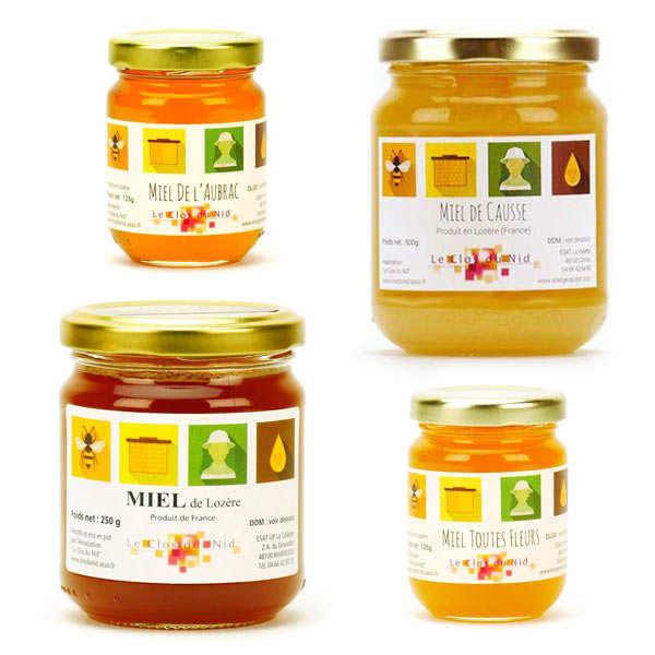 Lot découverte des miels solidaires Le Clos du Nid