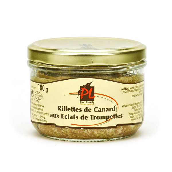 Duck Rillettes with Mushrooms 'Trompette de la Mort'