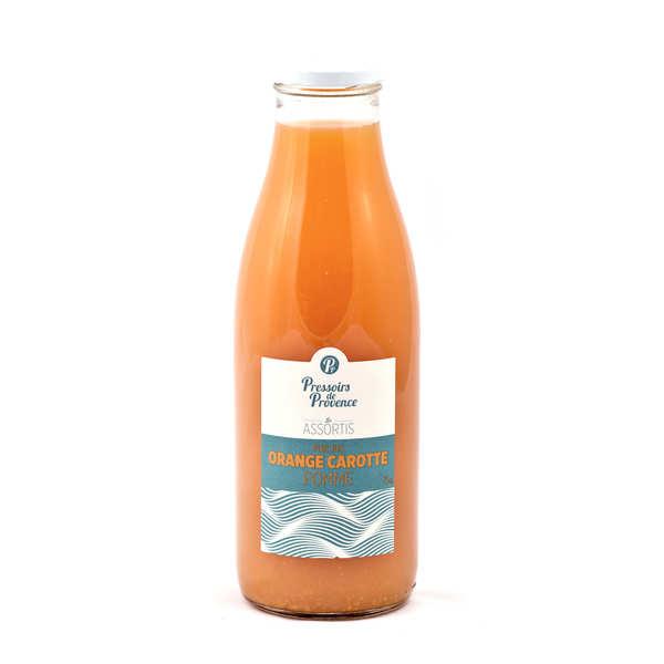 Pur jus orange carotte pomme - bouteille 25cl