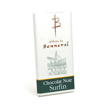 Tablette chocolat noir surfin 53%