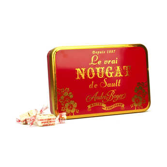 Confiserie André Boyer - Individual White Nougat in Metal Box