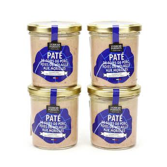 Terroir Parisien - Pâté de foies de porc, foies de volaille aux morilles